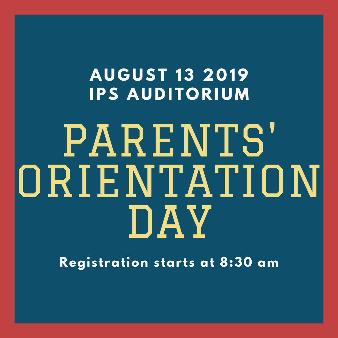 IPS Parents' Orientation Day 2019-2020